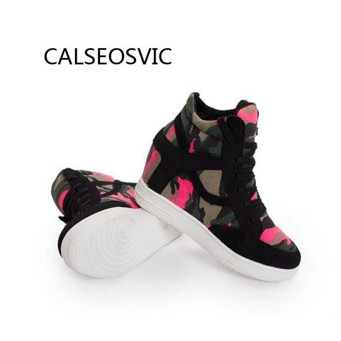chaussures multisport Baskets Top de toile confortable de lacer des femmes 3604876 LCaYlF