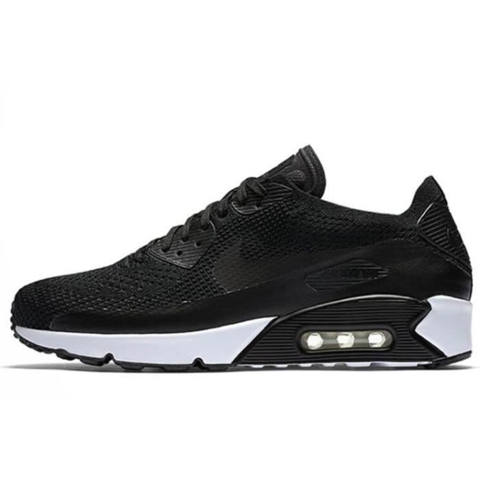 new products 4f01b 19ac8 Nike Air Max 90 Ultra 2.0 Flyknit Chaussures de course Baskets Noir Blanc