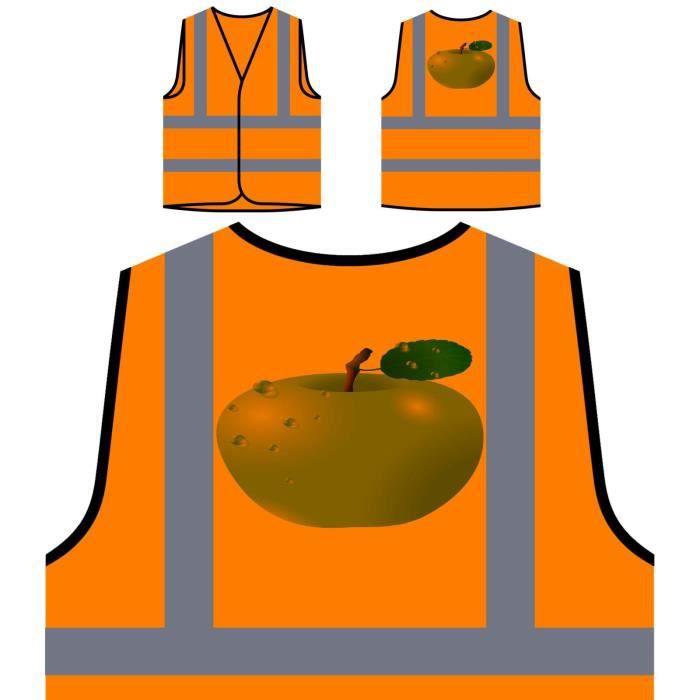 Funny Novelty Visibilité Haute Orange Personnalisée Protection Tasty apple Veste De À Fruit Personnalisé xPnvTv