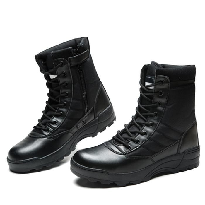 Bottine Hommes Mode Armée Securite Bottes BCHT-XZ091Noir40 Noir Noir - Achat / Vente bottine  - Soldes* dès le 27 juin ! Cdiscount
