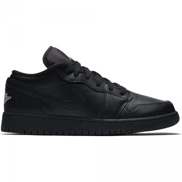 outlet store 77243 2a6e2 Chaussure de Basket Air jordan 1 low BG Noir pour Junior