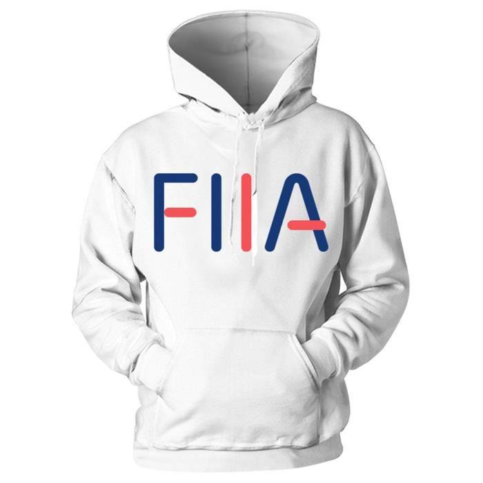 Sweatshirt Homme à capuche imprimé lettre FllA Slim Fit