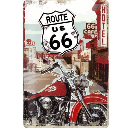 Tableau moto route 66 achat vente tableau moto route 66 pas cher cdiscount - Plaque metal decorative pas cher ...