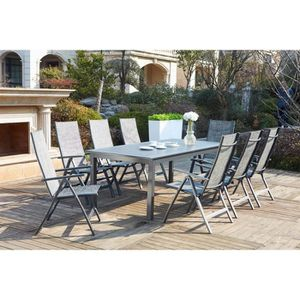 Salon De Jardin Extensible. Awesome Table Jardin Bois Awesome Table ...