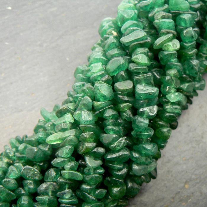 Be You indien vert foncé aventurine naturelle pierres précieuses non taillées perles de puce 33 pouces 10 lignes brin lâche