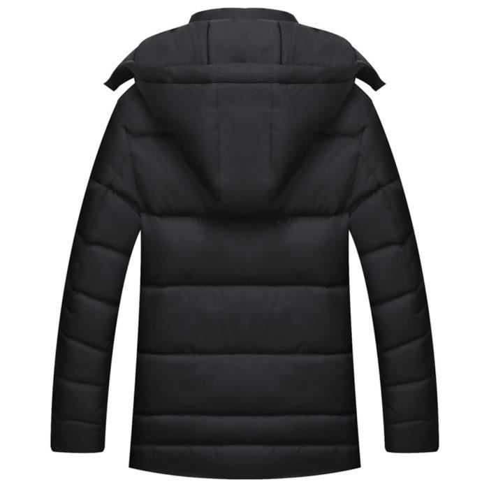 Droite Noir Veste rouge Coupe Hommes Doudoune Capuche nbsp;chaud D'hiver pnwBHvyqta