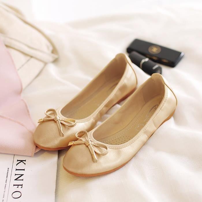 Womens Pliable Ballet doux Flats Comfort Slip On danse chaussures par EBQK2 Taille-39 1-2