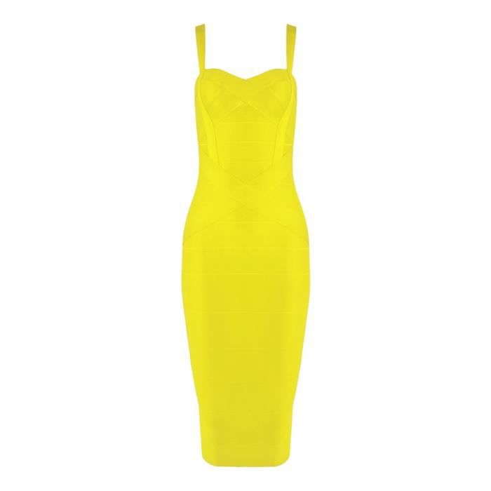 Womens Rayon Spaghetti Strap Midi-calf Bandage Dress 2HB8XV Taille-32