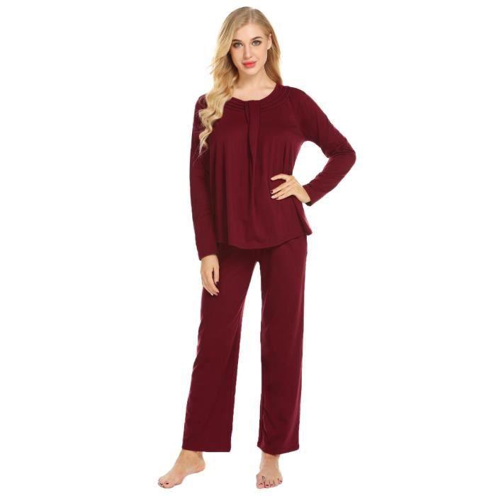 Manches Ensemble À Longues Lâches De Pyjamas Femmes w6PrAXq6x