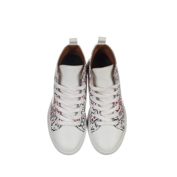 BLACK DIONISO FEMME VSFRAMEONLY BLANC CUIR BASKETS MONTANTES