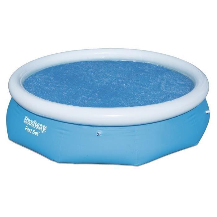Bâches solaire - Pour piscine ronde : 396x84cm 57319 et 57321 - 75g/m² - Dimensions : Ø350cm.BACHE - COUVERTURE - VOLET - ENROULEUR