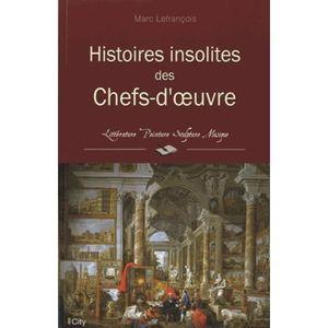 LIVRES BEAUX-ARTS Histoires insolites des chefs-d'oeuvre