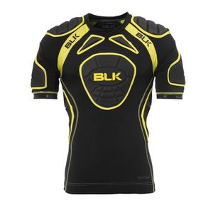 BLK Epauli?res de Rugby Tek 6 Shoulder Tee Padded Adulte Noir et jaune