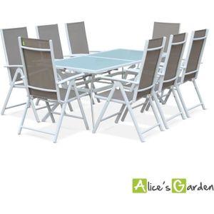 Salon de jardin aluminium Alice\'s garden - Achat / Vente Salon de ...