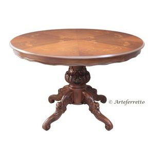 TABLE À MANGER SEULE Table à manger ronde prolongeable