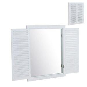 MIROIR Home Decor - Miroir Murale Fenetre 50x65 cm - Coul