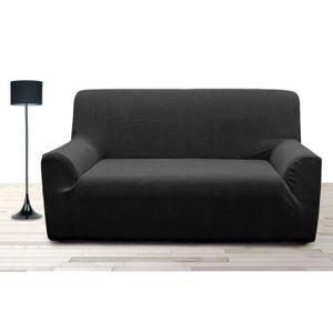 HOUSSE DE CANAPE Housse de canapé 3 places super stretch - Noir