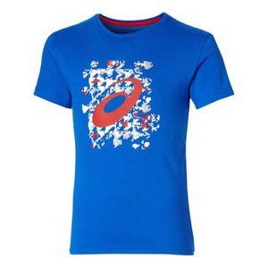 T-SHIRT ASICS T-shirt LABEL - Garçon - Bleu