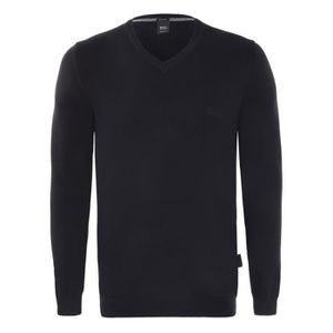 PULL Hugo Boss - Pull homme col V coupe droite Manches