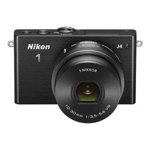 APPAREIL PHOTO HYBRIDE Hybride Numérique NIKON 1 J4 noir + 10-30mm VR.