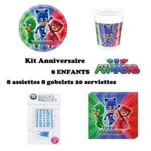 KIT DE DECORATION Kit PJ MASKS pyjamasques 36 pièces Anniversaire Fê