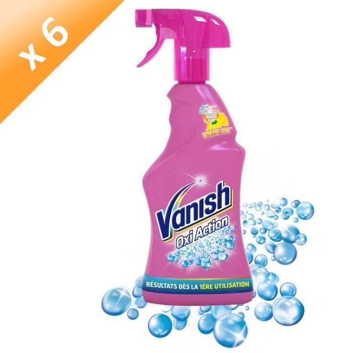 VANISH Détachant avant-lavage Oxi Action Pistolet - 750 ml - Lot de 6