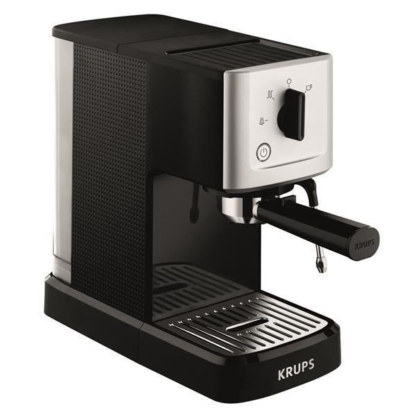 KRUPS XP344010 Machine à expresso manuelle simple pompe Calvi - Buse vapeur - Pression 15 bars - Noi