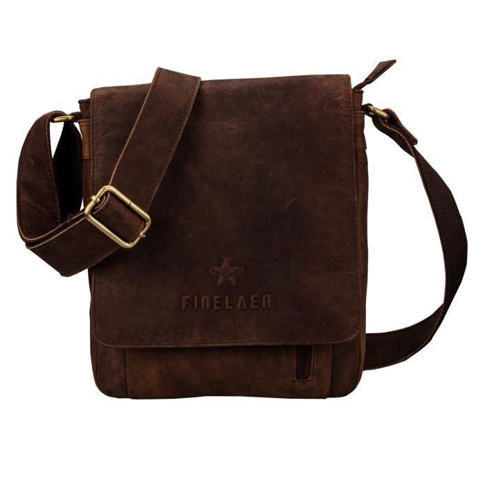 Sac bandoulière en cuir sac fourre-tout dépaule Messenger Sac Bgs pour Brown LAJBI