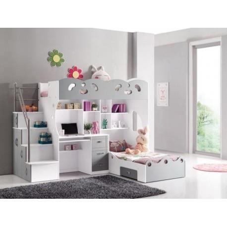 lit combin 2 couchages coco achat vente lit combine lit combin 2 couchages coco. Black Bedroom Furniture Sets. Home Design Ideas