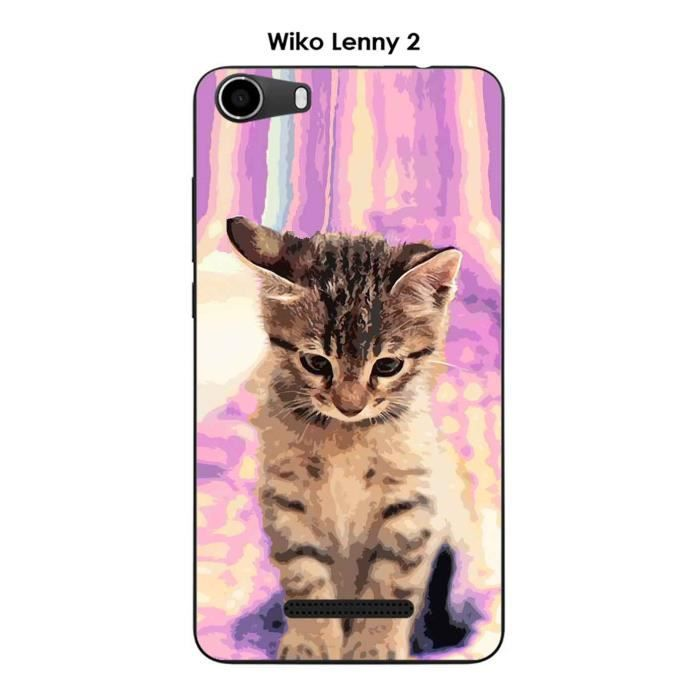coque wiko lenny 2 chat achat vente coque wiko lenny 2. Black Bedroom Furniture Sets. Home Design Ideas