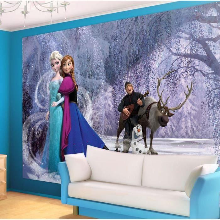 papier peint géant 416x290 cm reine des neiges – elsa, anna et