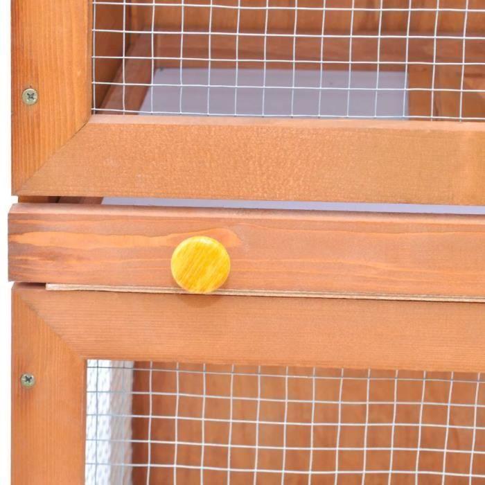 CLAPIER oVsky Cage Clapier Extérieur en Bois pour Lapins 1