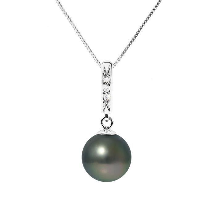 De Tahiti Et Perlinea Perle Diamants Collier Femme Or 375° Blanc kZTOXiPu