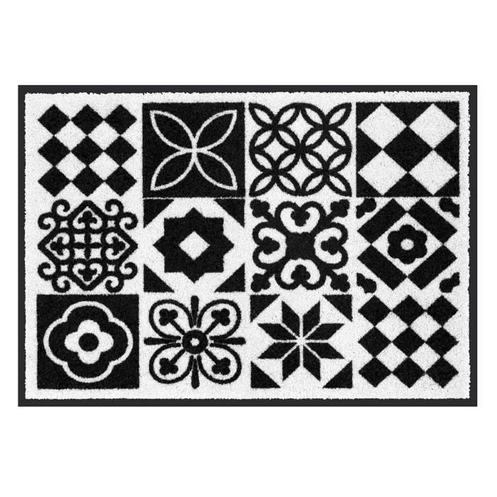 tapis de propret carreaux de ciment noir 70 x 50 cm achat vente tapis propret al se. Black Bedroom Furniture Sets. Home Design Ideas