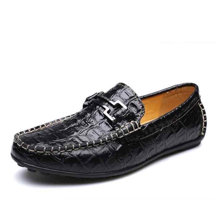 IZTPSERG Chaussures Richelieu cuir Homme Noir Gk1BM8Wg7J