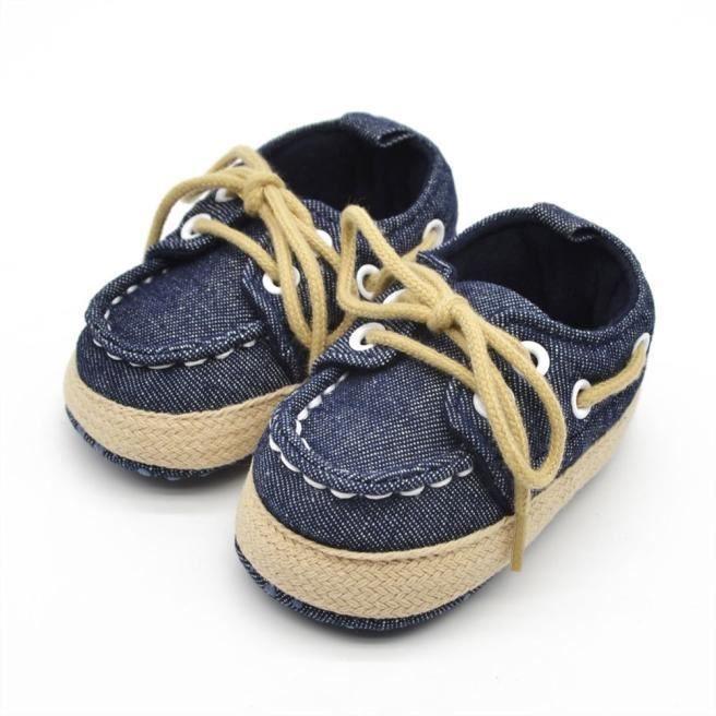 Bébé enfant garçon fille Soft semelle chaussure tout-petits chaussures bleu