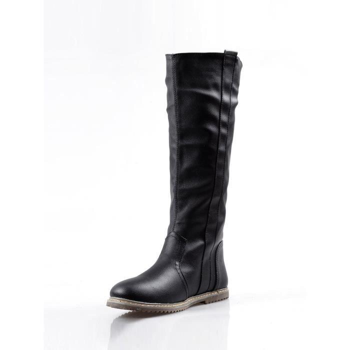 Solide Classique 9970006 dessus Comfy Femmes Plus Pour Chaussures Couleur Taille Au Bottes Plates 8IR7x8q