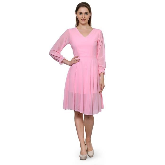 Femmes Stoplook Solide Couleur Casual Robe chasuble YO32Z Taille-34