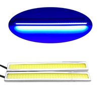 PHARES - OPTIQUES 2pcs 14cm Slim COB Lampe de Voiture Véhicule Lumiè