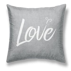 TODAY Coussin déhoussable Chambray Coton GIRL LOVE - 40x40cm