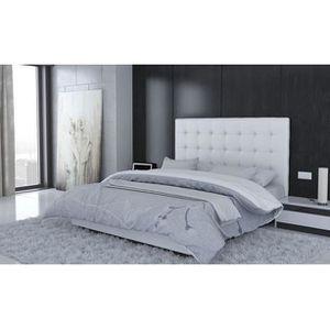 t te de lit blanc achat vente t te de lit blanc pas cher soldes d s le 10 janvier cdiscount. Black Bedroom Furniture Sets. Home Design Ideas