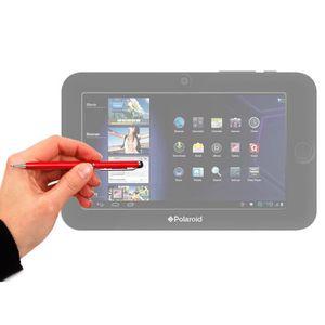 STYLET - GANT TABLETTE Stylet tactile 2 en 1 - rouge - pour écrans de tab