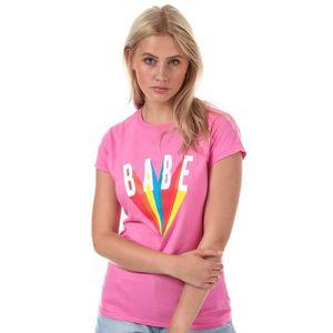 T-SHIRT T-Shirt Daisy Street Babe pour femme en rose.