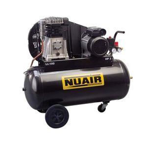 COMPRESSEUR Nuair - Compresseur à air 2CV 1,5kW Monophasé 50L