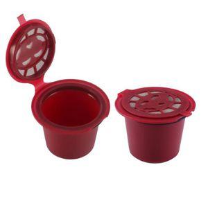 CAFETIÈRE 2pcs capsules café Capsules de café réutilisables