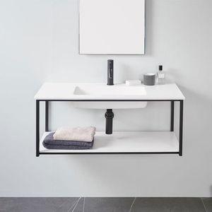 MEUBLE VASQUE - PLAN Meuble salle de bain design suspendu UNO METAL ave