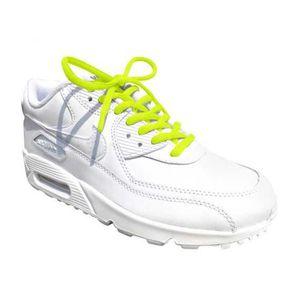 d2bfec6f1db LACET Lacets de chaussures rondes colorées jaune fluo la