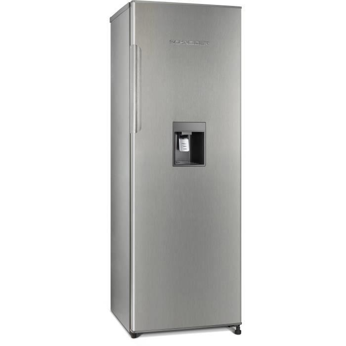 SCHNEIDER SL331IX - Réfrigérateur 1 porte - 323 L - Froid brassé - Distributeur à eau - A+ - L 59,6