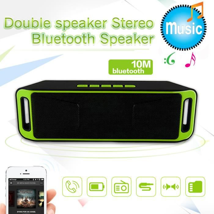 Bluetooth Mini Portable Sans Fil Haut-parleur Stéréo Récent Tf Usb Fm Mic @bat7209