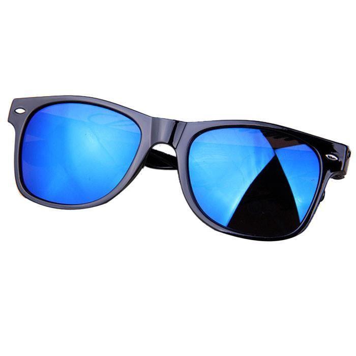 Rétro aviateur Lunettes de soleil lunettes miroir Lunettes de vue Lunettes de femme bleu